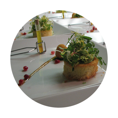 plated food from Allium Bistro and Field & Vine Events in Oregon's Mount Hood Territory