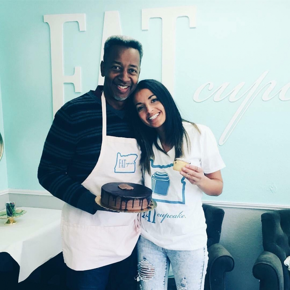 Angelica Hayes and her father from Fat Cupcake in Oregon City