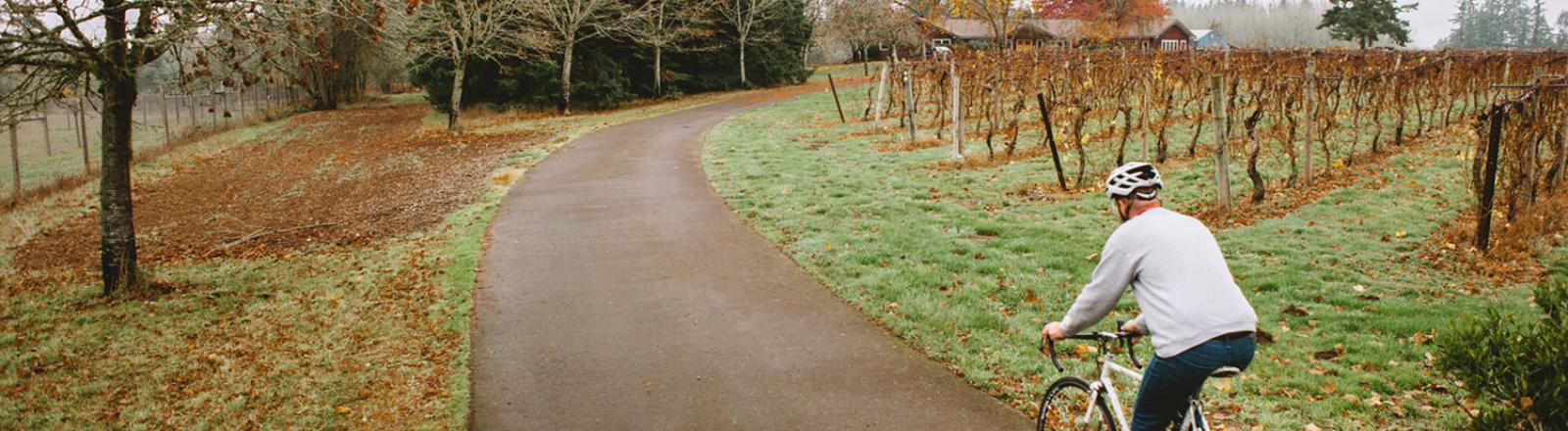 Biking, Vineyards, Oregon Wine Country