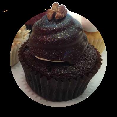 A delicious gooey dark chocolate cupcake at Kyra's Bake Shop in Lake Oswego.