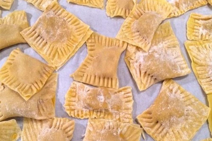 handmade ravioli pasta