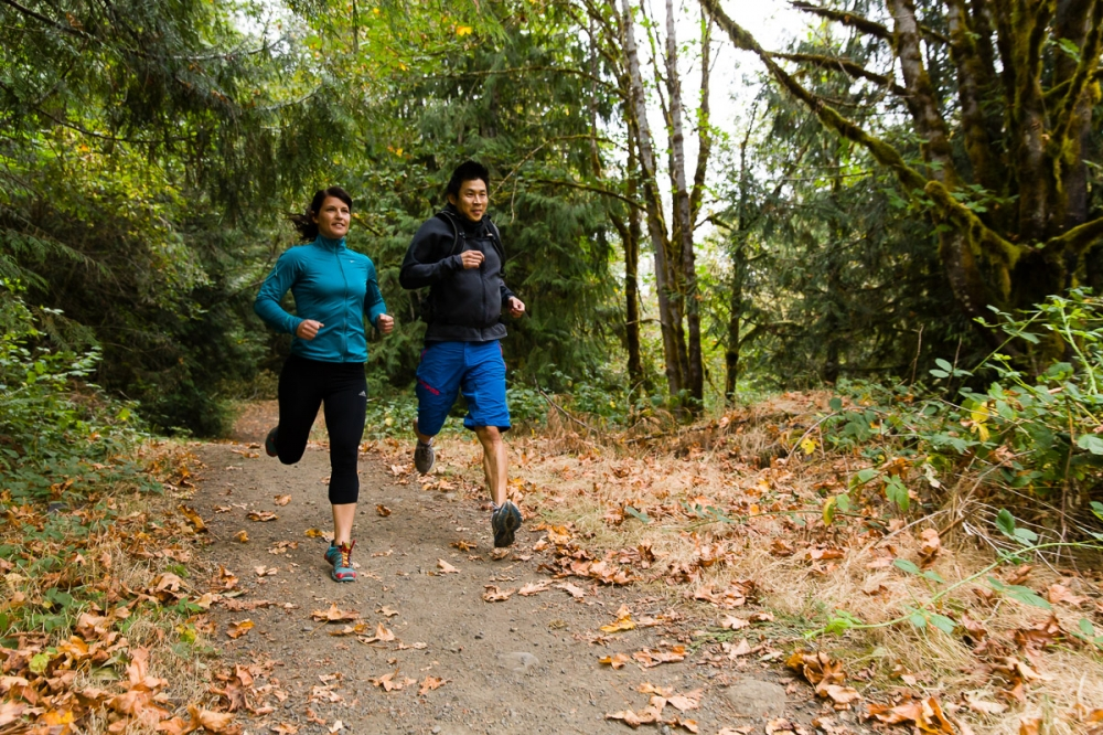 trail running Molalla River recreation area
