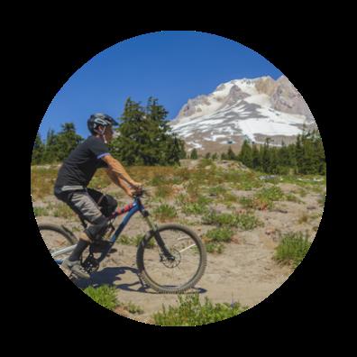 mountain biking at Timberline Lodge on mount hood