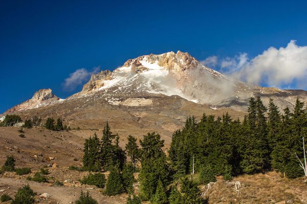 Mt Hood from Timberline Lodge, Late Summer