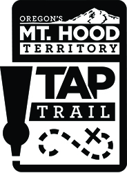 Mt. Hood Territory Tap Trail logo in black & white