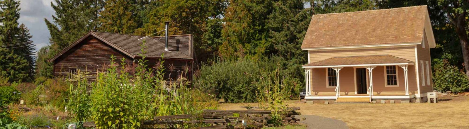 Lucy's cabin at Philip Foster Farm in Oregon's Mount Hood Territory