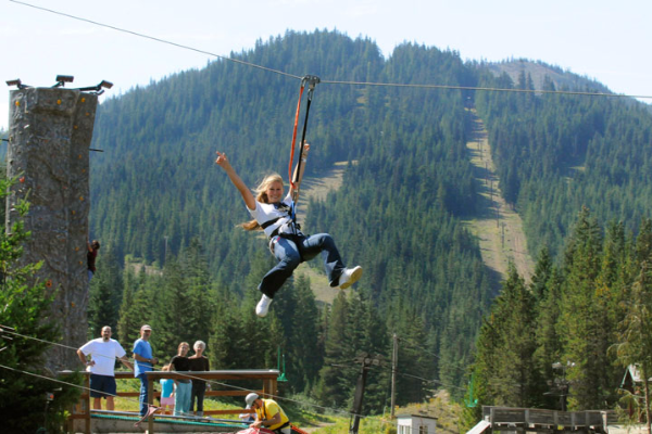 Zipline at Skibowl Adventure Park
