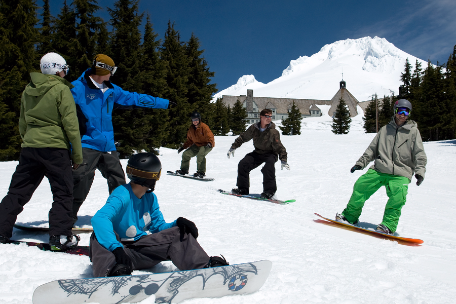 Snowboarding class at Timberline Lodge & Ski Area