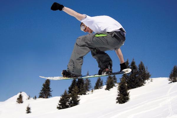Snowboarding Timberline Ski Area