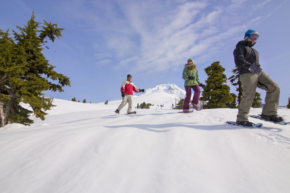 snow shoeing Mount Hood