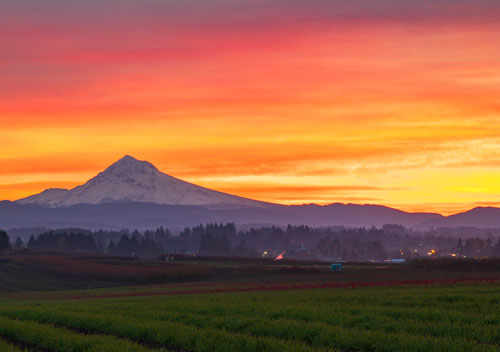 Boring, Oregon sunrise in Oregons Mt. Hood Territory