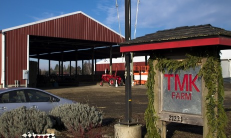 Entrance and sign for TMK Farm and Creamery in Canby, Oregon