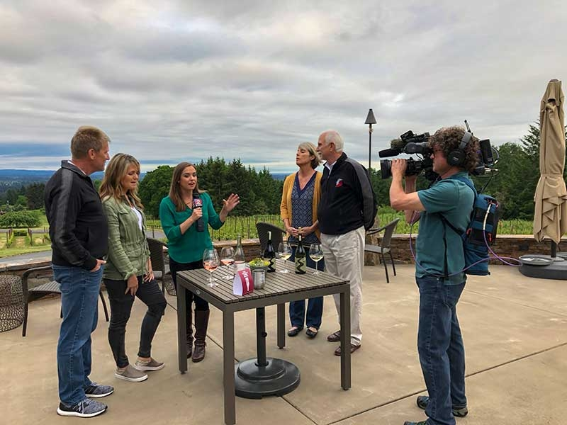 Petes Mountain and Campbell Lane Wineries interviewed for KATU News